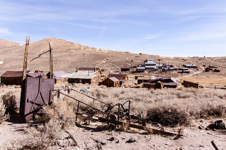 Remnants of a once bustling gold mining town.