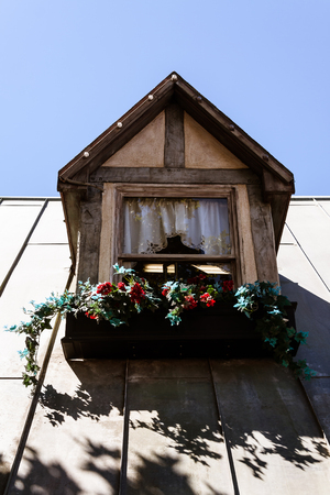Detail of a window in the Danish town of Solvang near Santa Barbara, CA.