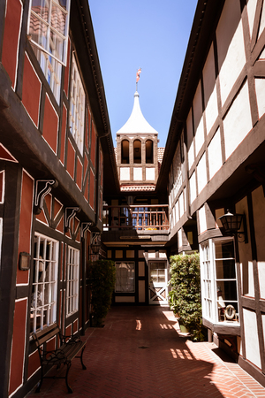 An alleyway in the Danish town of Solvang near Santa Barbara, CA.