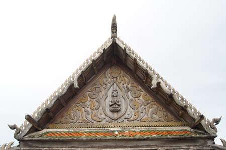 samutprakarn: Ancient Temple  Wat Srangsok or Wat Morn  more than 200 years old  located in Samutprakarn Province Thailand