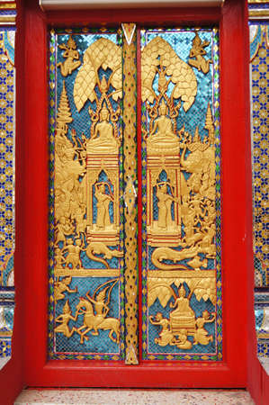 bangrak: Door at Wat Muang khae located in Bangrak  Bangkok Thailand