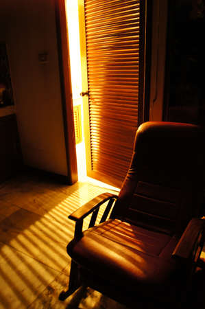 chair at night for retirees photo