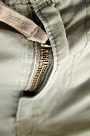 zipper lines on crotch of trousers