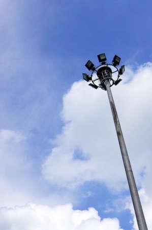 street light Pole against blue sky Stock Photo - 14457165