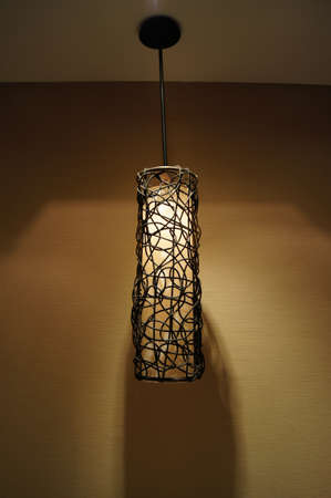 hanging lamp in hotel photo