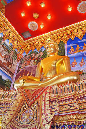 Buddha image in Thai temple Stock Photo - 16261218