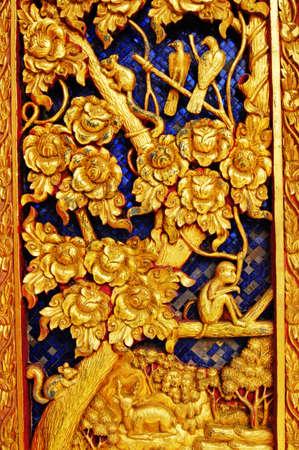 bangrak: Door at Wat Ladbuakaw Bangkok Thailand