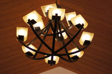 Lamps on the ceiling