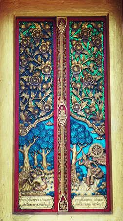 bangrak: Door at Wat nong tum lueng Chonburi Thailand