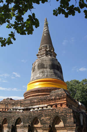Ancient pagoda in Ayutthaya Thailand photo