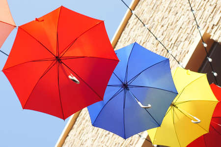 Colorful umbrellas Stock Photo - 18846094