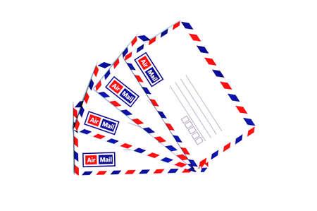 Airmail envelope on white background Stock Photo - 19282889