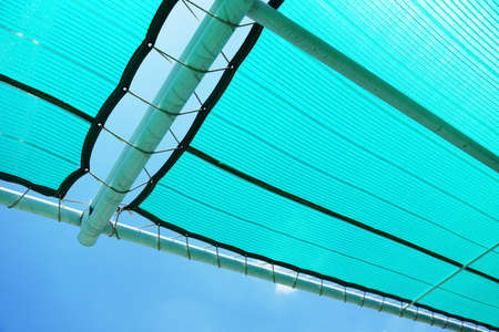 netlike: Green mesh for protection against the sun