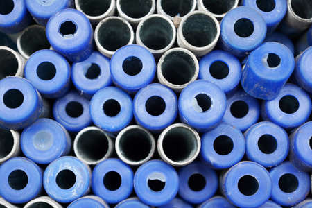 Steel water pipes for background photo