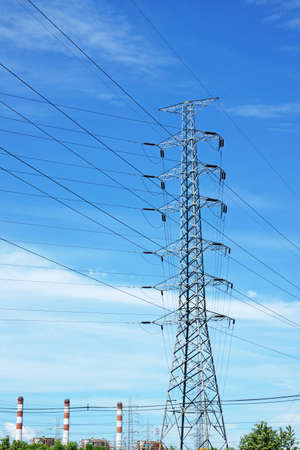Power Transmission Line Tower  photo