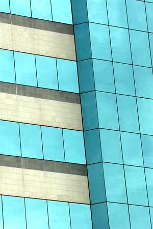 Sky reflection in the windows for abstract background