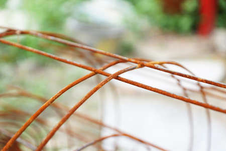 Close-up of rusty fencing material photo