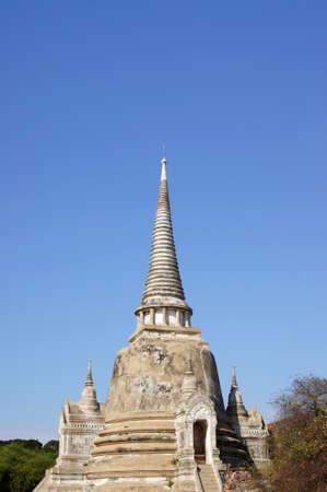 The ancient Pagoda at Wat Phra Sri Sanphet Temple, Ayutthaya, Thailand