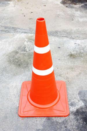 roadwork: Orange traffic cone