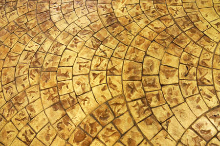 Seamless Texture of yellow bricks floor photo