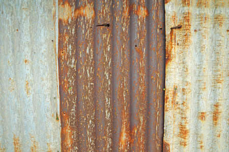 corrugated steel: Rusty corrugated metal roof texture
