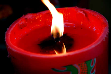 Red Chinese candle photo