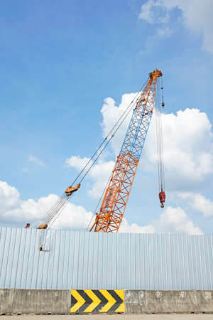 Crane in construction zone photo