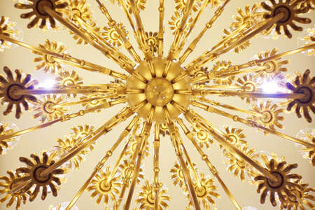 Chandelier viewed from below photo