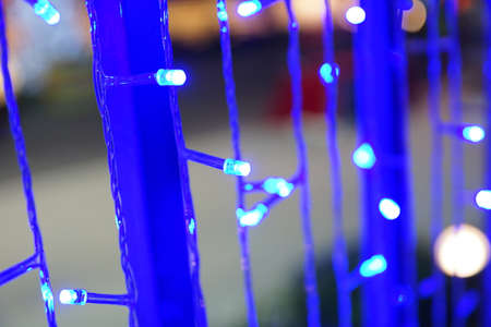 Blue LED lights for decoration Stock Photo - 24635674