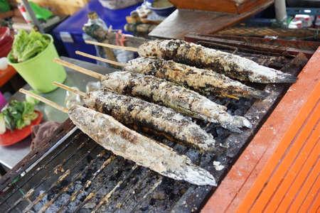 snake head fish: Salt-grigliate di pesce testa di serpente