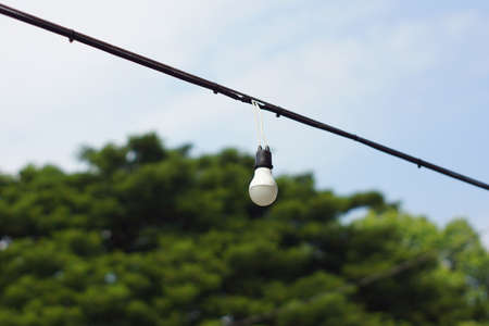 electric bulb: Hanging electric bulb