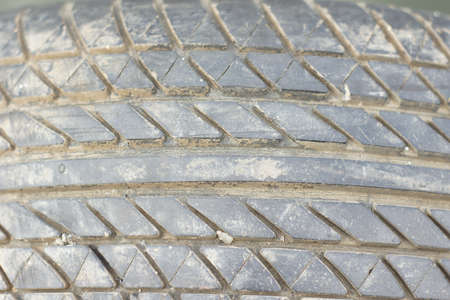 Used tire texture photo