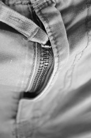 zipper lines on crotch of trousers - Black and white