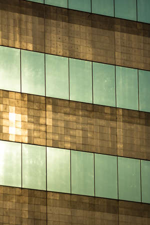 Building surface reflecting by evening light photo