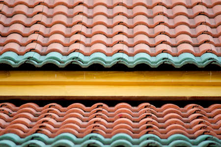 Roof tiles of Thai temple