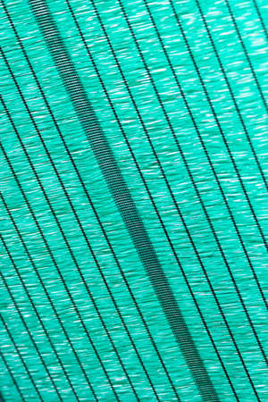 Green mesh for protection against the sun