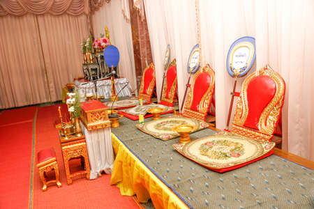 Seats for Buddhist Monks used in religious ceremonies - Thailand