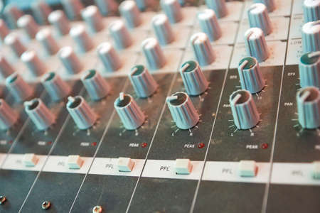 Old mixing console photo
