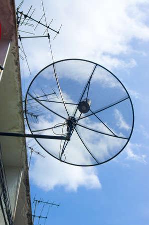 Satellite dish on roof top