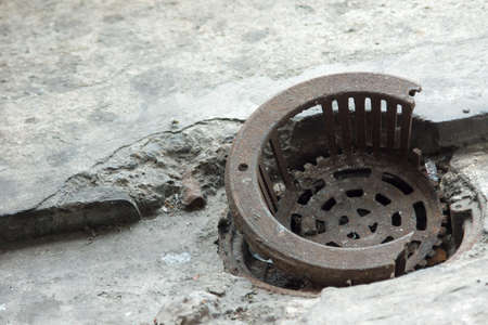 An old Water drainage hole photo