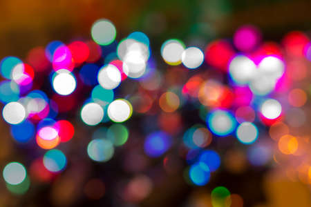 Defocused of Real bokeh for abstract background photo