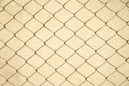 security gap: Metal wire fence background