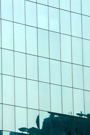 building reflection in the windows for abstract frame and background photo