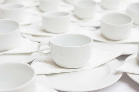 Group of coffee cups photo
