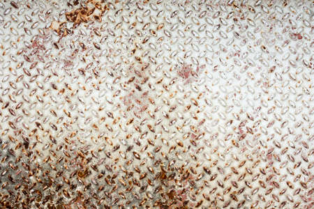 tread plate: Rusty checkered steel plates texture