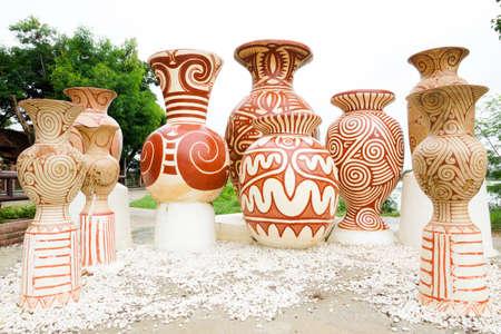 earthenware: Earthenware of Ban Chiang Stock Photo