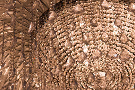 chandelier background: Crystal chandelier - abstract background
