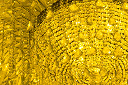 chandelier background: Crystal chandelier - abstract background - yellow