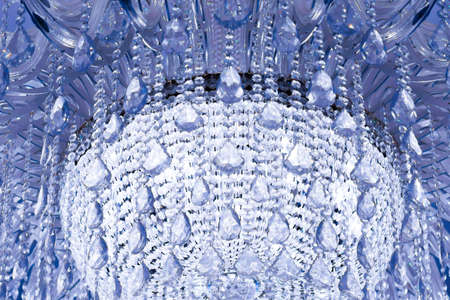crystal background: Crystal chandelier - abstract background - blue