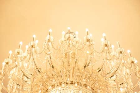 chandelier background: chandelier background - Soft focus -Warm tone